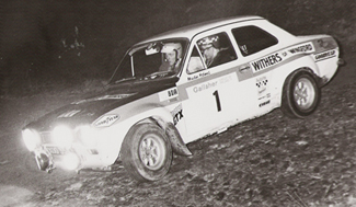 W1- Chris Sclater/Martin Holmes XOO354F MK1 Escort Circuit of Ireland Rally 71